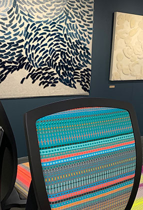 Jonathan Rose Design Develop Contemporary Scandinavian Inspired Furniture New 2019 Danish Disrupted Collaboration Angie Parker Scandinavian Weave Close Up 1