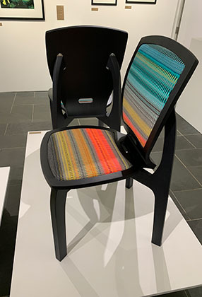 Jonathan Rose Design Develop Contemporary Scandinavian Inspired Furniture New 2019 Danish Disrupted Collaboration Angie Parker Scandinavian Weave Close Up 2