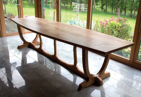 Jonathan Rose Design Develop Contemporary Scandinavian Inspired Furniture Table Furniture Bespoke Dining Table From the Woods Top