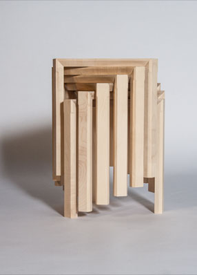 Jonathan Rose Design Develop Contemporary Scandinavian Inspired Furniture Tables Furniture Fractal Tables Stacked